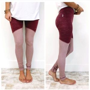 FREE PEOPLE Evolution Ribbed Colorblock Leggings